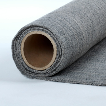 Biosoluble fiber sintered cloth